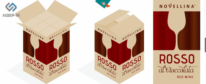 дизайн Упаковки для алкогольних напоїв для ТМ Novellina зображення 1