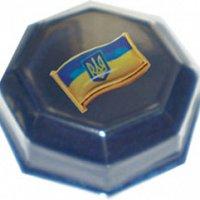 Значок «Малий герб України» у футлярі